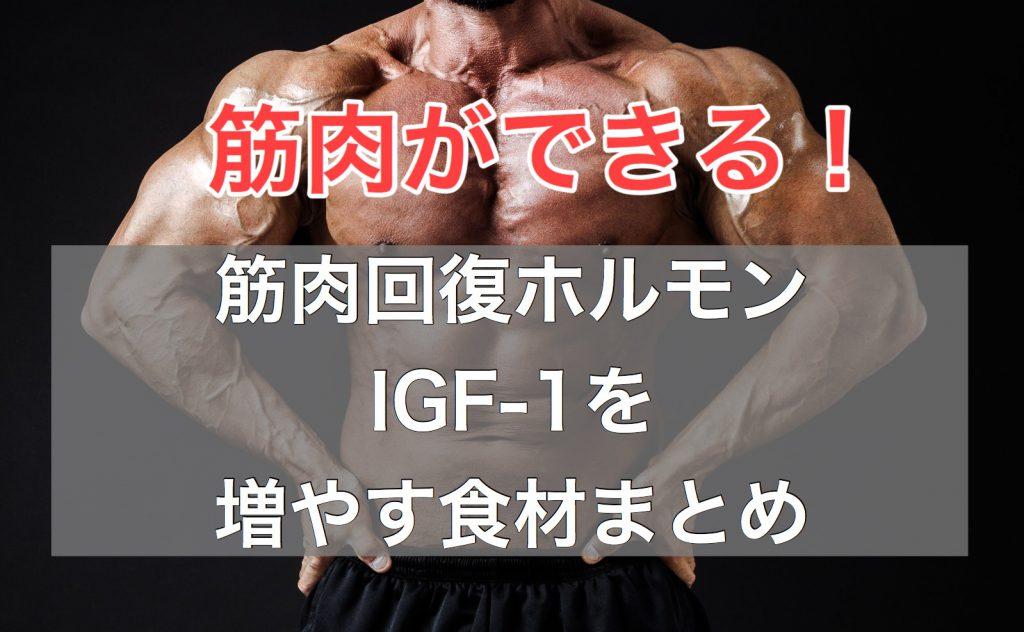 筋肉回復ホルモンIGF-1を増やす食べ物